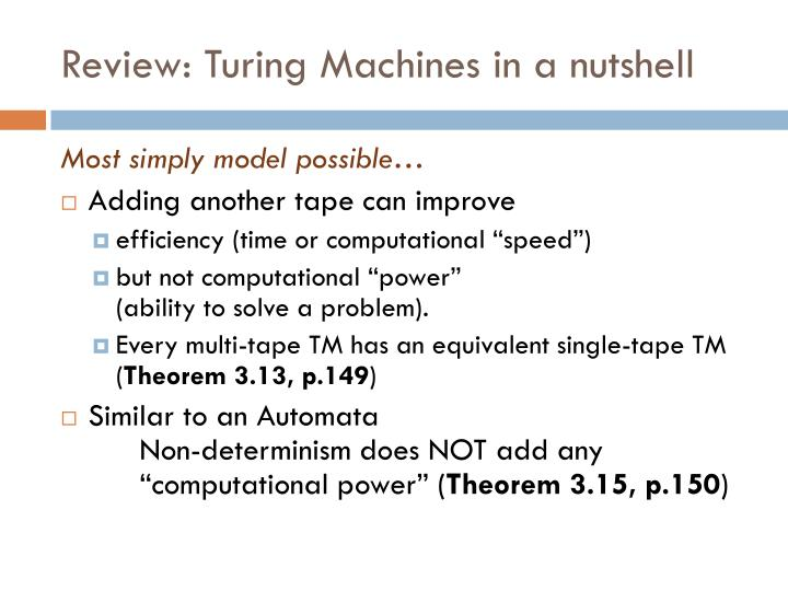 church turing thesis in automata The church-turing thesis we have introduced various abstract computation models, focusing on language recognition and de- do two given deterministic nite automata m1.