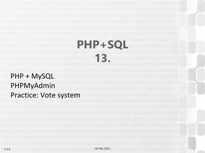 Php sql 13
