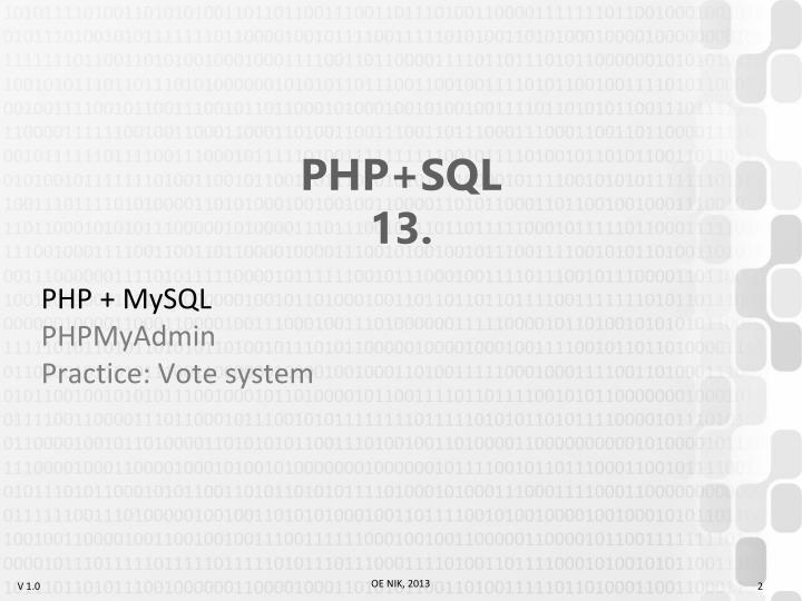 Php sql 131