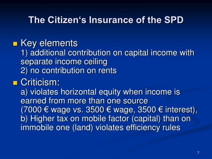 The Citizen's Insurance of the SPD