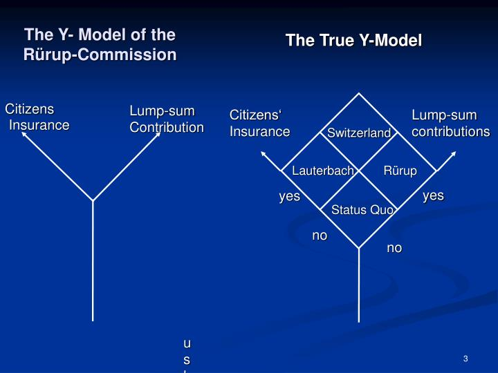 The y model of the r rup commission