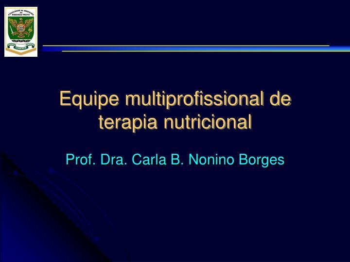equipe multiprofissional de terapia nutricional n.