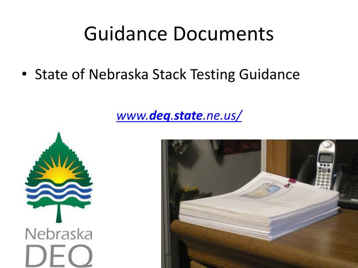 Guidance Documents
