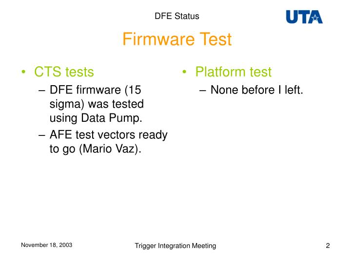 CTS tests