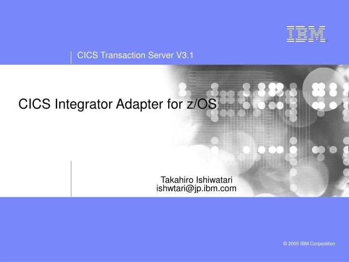 cics integrator adapter for z os n.