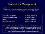 protocol for management1