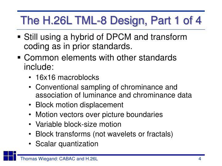 Still using a hybrid of DPCM and transform coding