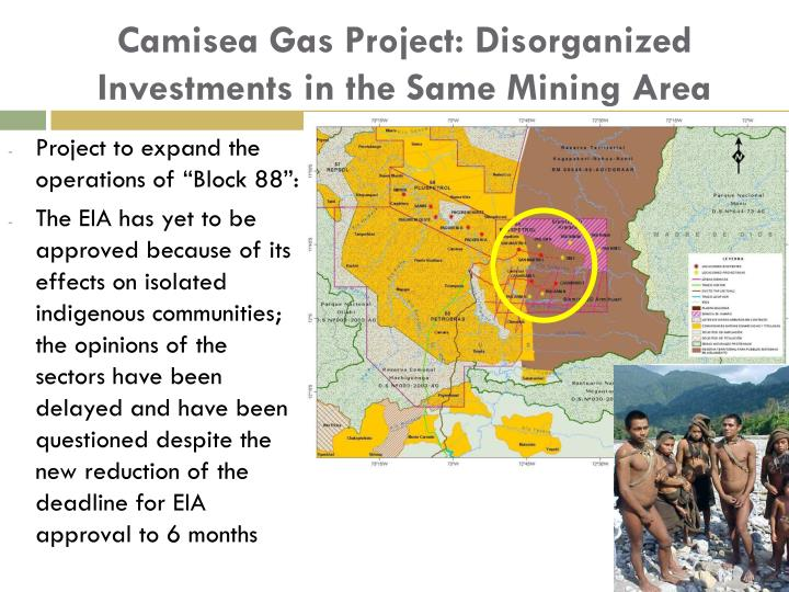 Camisea Gas Project: Disorganized Investments in the Same Mining Area