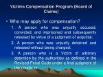 victims compensation program board of claims1