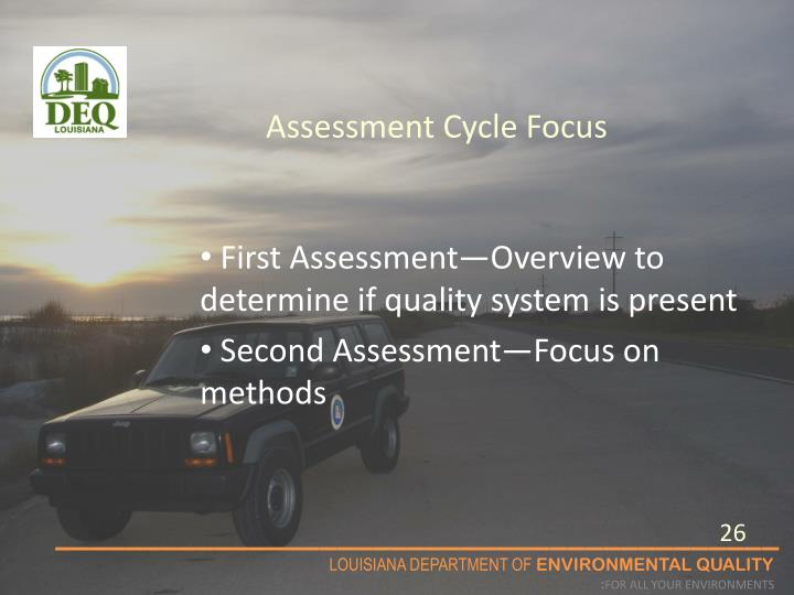 Assessment Cycle Focus
