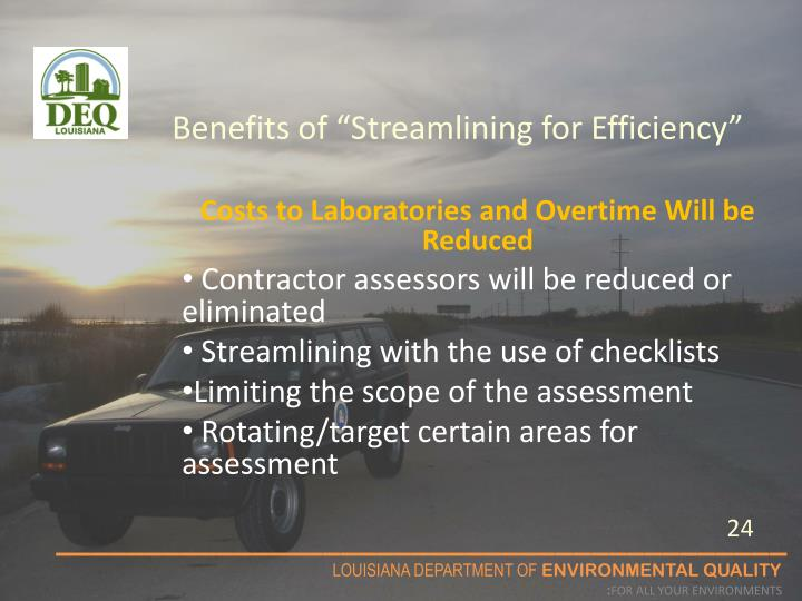 """Benefits of """"Streamlining for Efficiency"""""""