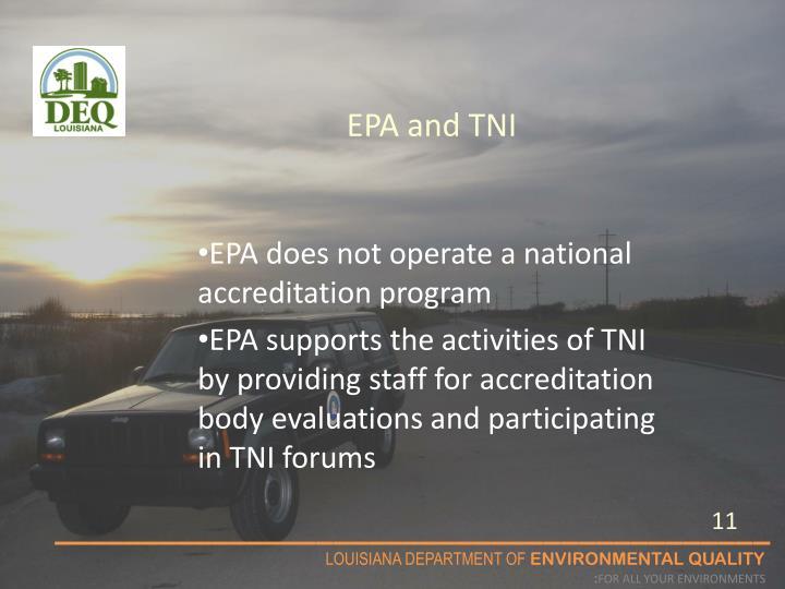 EPA and TNI