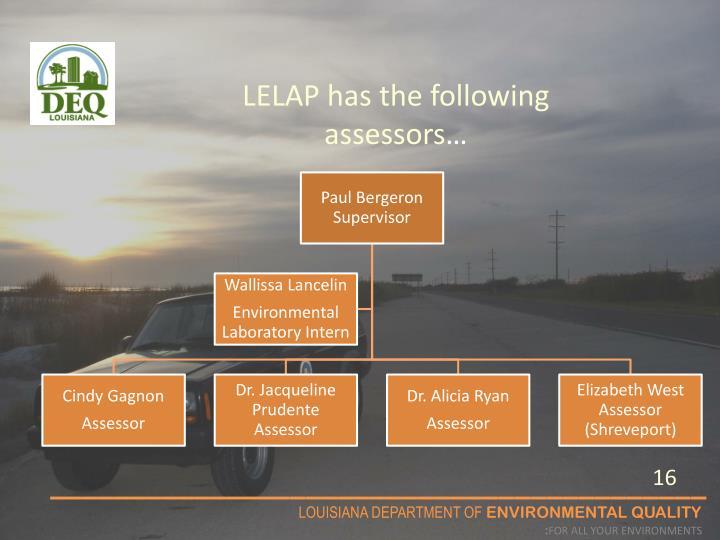 LELAP has the following assessors