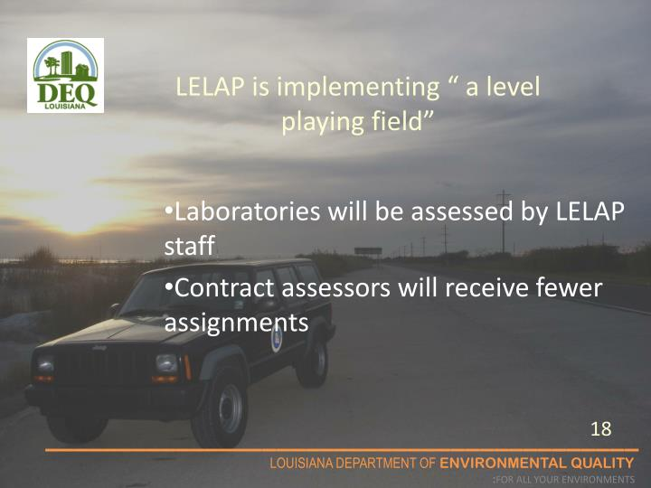 """LELAP is implementing """" a level playing field"""""""