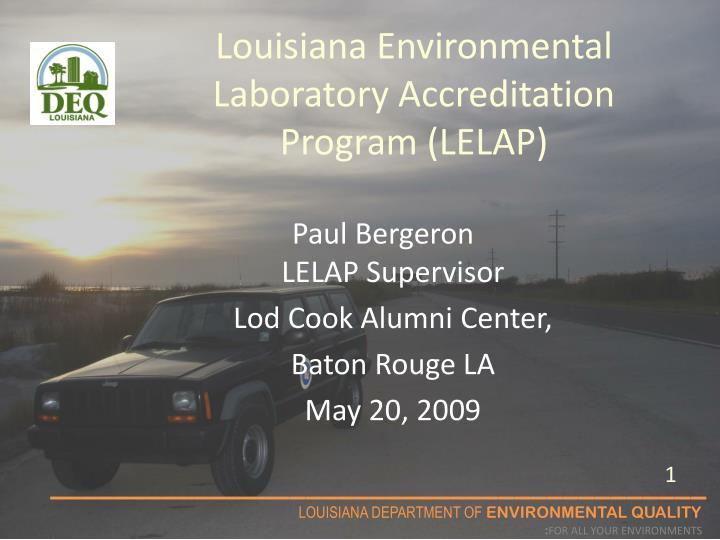 Louisiana environmental laboratory accreditation program lelap