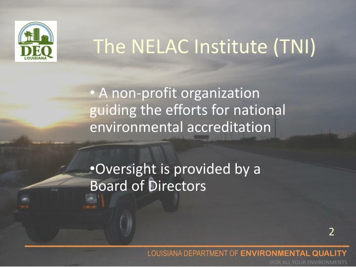 The nelac institute tni