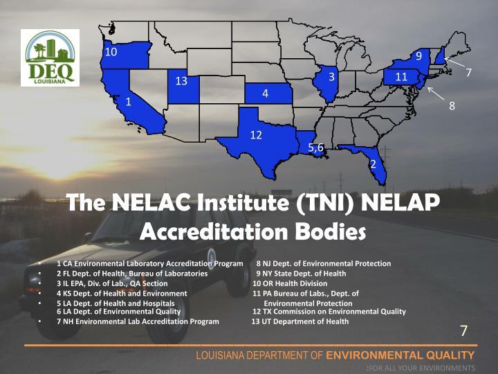 The NELAC Institute (TNI) NELAP Accreditation Bodies