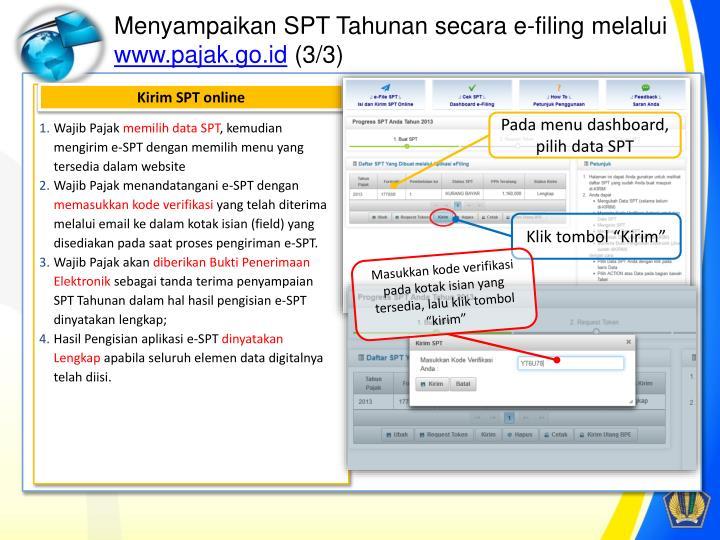 Menyampaikan SPT Tahunan secara e-filing melalui