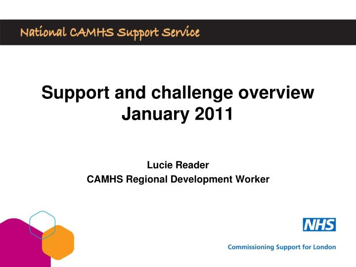 support and challenge overview january 2011 n.