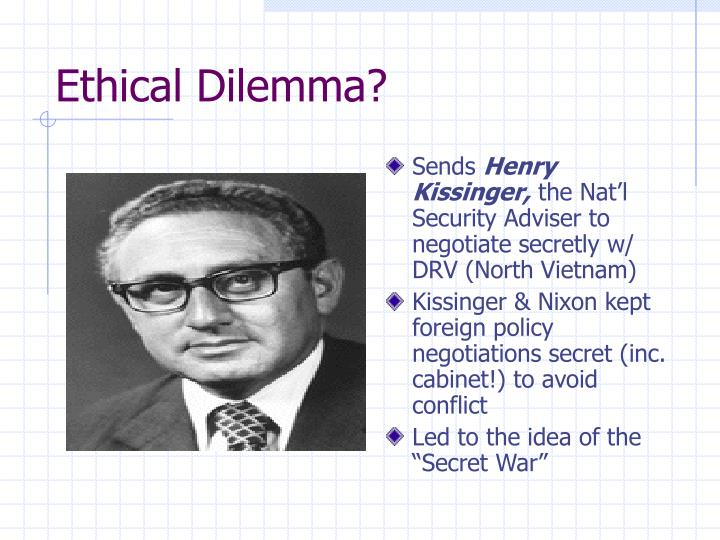 Ethical Dilemma?