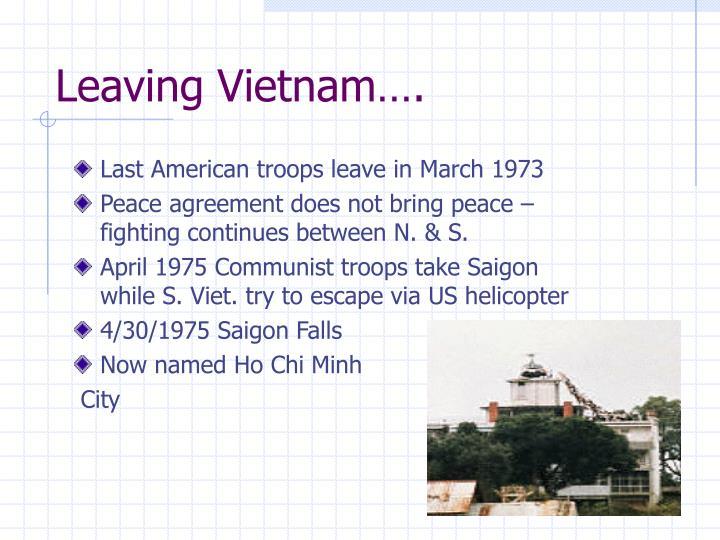 Leaving Vietnam….