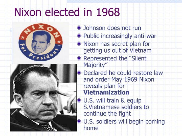 Nixon elected in 1968