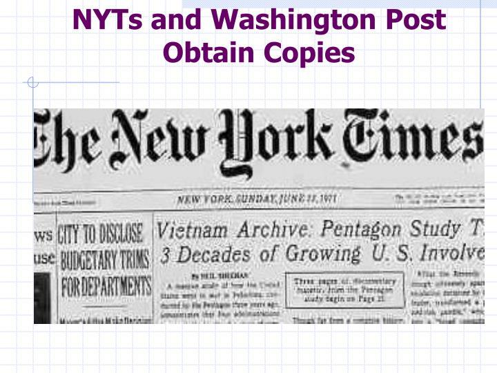 NYTs and Washington Post Obtain Copies