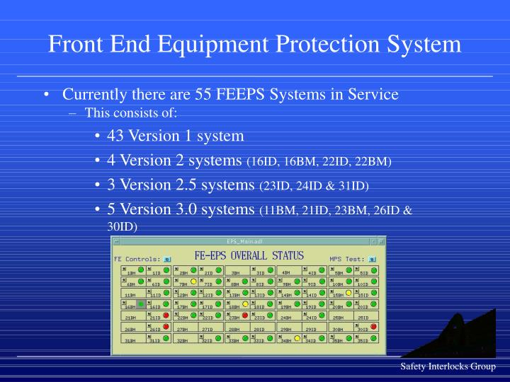 front end equipment protection system n.