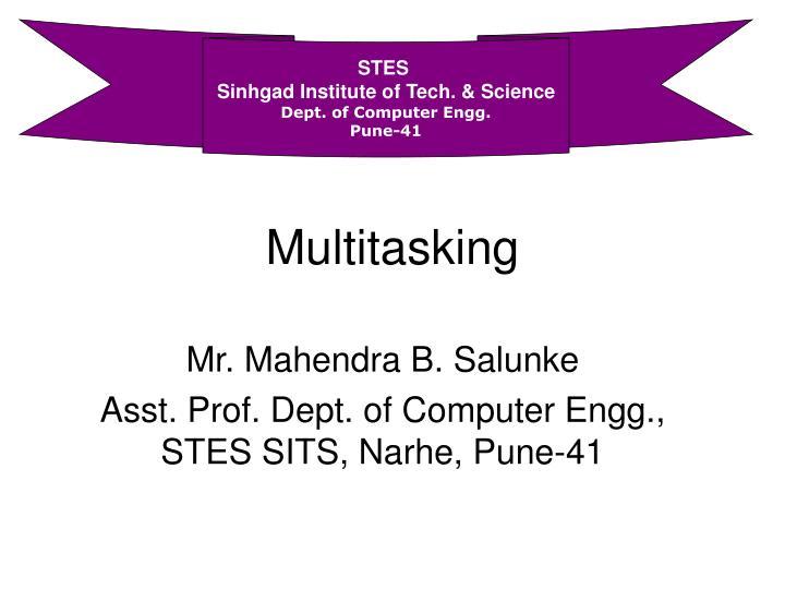 multitasking n.