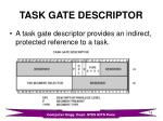 task gate descriptor