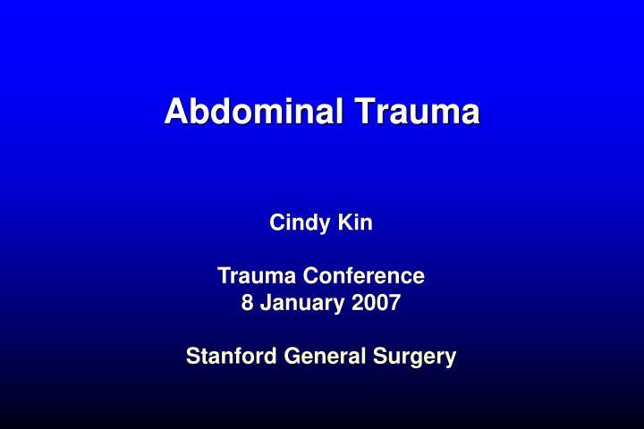 abdominal trauma n.