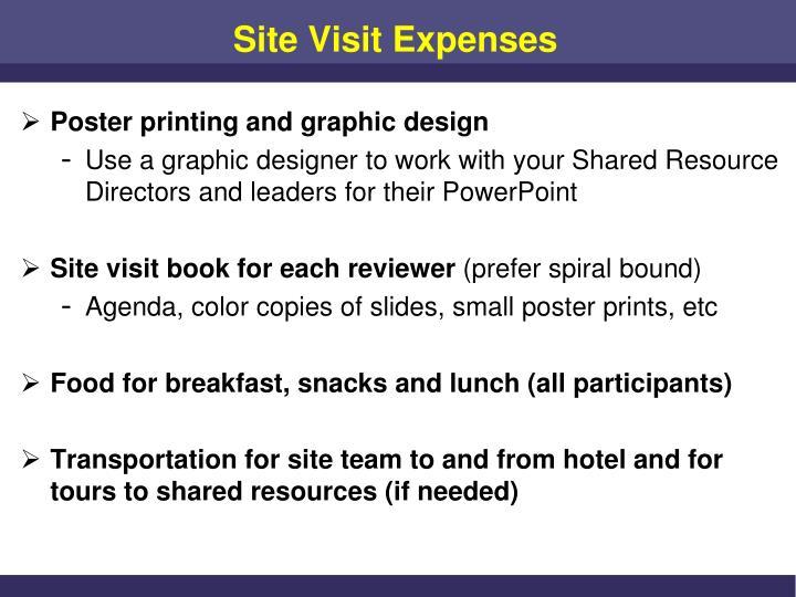 Site Visit Expenses