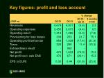 key figures profit and loss account