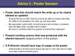 advice 5 poster session