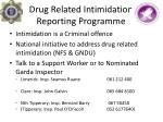 drug related intimidation reporting programme