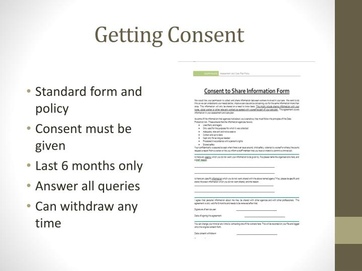 Getting Consent