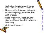 ad hoc network layer