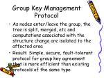 group key management protocol