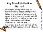 key pre distribution method