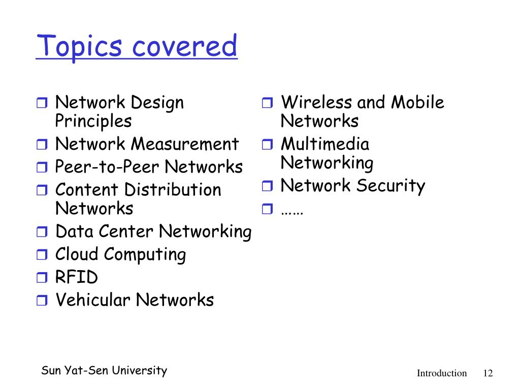 PPT - Advanced Topics on Computer Networking (现代计算机