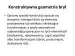 konstruktywna geometria bry1