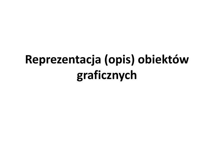 reprezentacja opis obiekt w graficznych