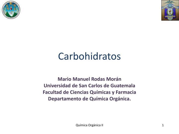 carbohidratos n.