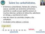 sobre los carbohidratos
