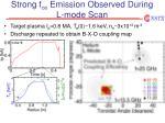 strong f ce emission observed during l mode scan