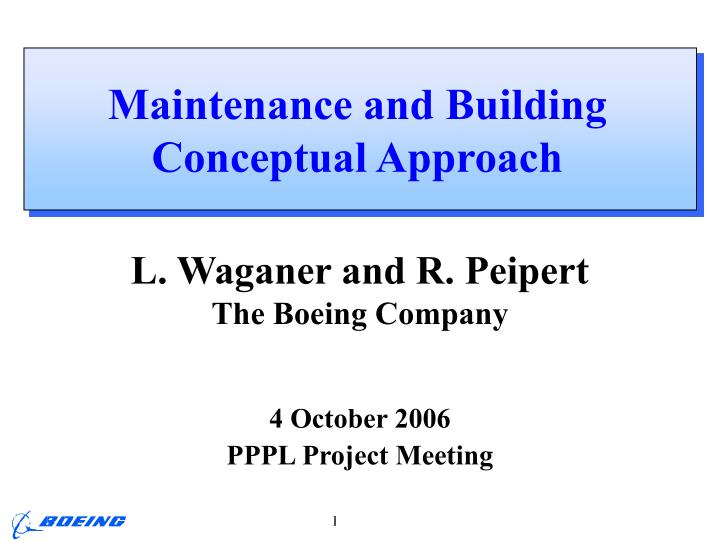 maintenance and building conceptual approach n.