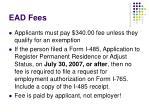 ead fees