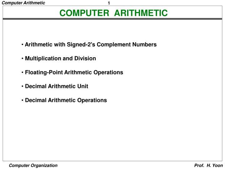 computer arithmetic n.