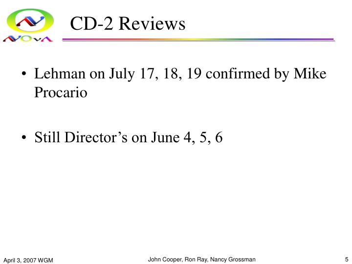 CD-2 Reviews